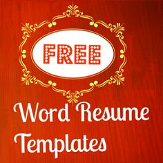 I made a collection of best free resumes the other day and though to myself many of you (including me) might prefer the free MS Word list as they... #resume #template #cv #word