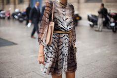 Completely glamorous tiger print chiffon dress