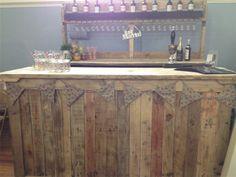 Our rustic mobile bar Shed Wedding, Wedding Ideas, Mobile Bar, Catering Ideas, Wooden Bar, Bar Drinks, Bar Ideas, Man Cave, Buffet