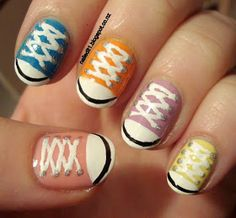 Nailed It NZ: Converse shoes/chucks take two nail art