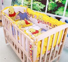 Newborn Girl and Boy bedding set Cartoon Kids Crib Bed Sheets Cotton Baby Bedclothes Include Pillow Bumpers Mattress Baby Set, Baby Cartoon, Cartoon Kids, Boys Bedding Sets, Baby Bedding, Newborn Bed, Toy Storage Bags, Bedclothes, Mattress Covers