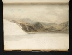 Joseph Mallord William Turner - The Head of Derwentwater with Lodore Falls, Looking into Borrowdale, 1797
