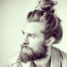 The awkward moment when his messy bun looks better than yours....