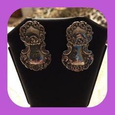 "Sterling silver earrings with initial ""G"". Sterling silver earrings 9.25 with initial G on them. Jewelry Earrings"