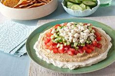 Mediterranean Layered Dip #recipe. Save it to your favourites.