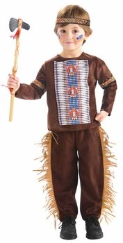 Boys Li'l Brave Native American Male Indian Costume Wig Clothing, Shoes & Accessories Accessories