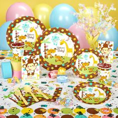 Dont want it to look like partycity threw up in the house!  Baby shower idea fisher price safari