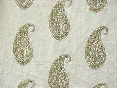 Live Paisley in Antique Beige – Lauren Liess Paisley Stencil, Stencil Diy, Paisley Pattern, Beige Curtains, Drapes Curtains, Lauren Liess, Fabric Pictures, Custom Drapes, Boho Room