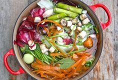 Homemade vegetable stock - what an amazing way to reuse food scraps before you compost!