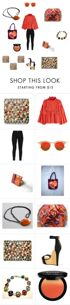 """Hippy chic"" by einder ❤ liked on Polyvore featuring See by Chloé, Ted Baker, Karen Walker, Cadeau, Balmain, MATÌ and NYX"