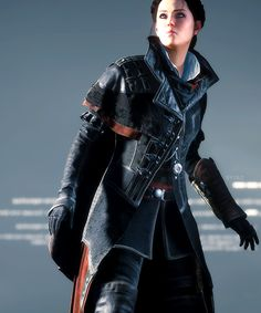Evie Frye Evie Frye Cosplay, Assassins Creed Syndicate Evie, Cry Of Fear, Female Assassin, Warrior Girl, Skyrim, Assassin's Creed, Cosplay Costumes, Leather Jacket