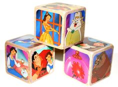 Beauty And The Beast Children's Wooden Baby by Booksonblocks, $17.00
