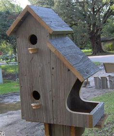 50 Amazing Bird House Ideas For Your Backyard Space . Anyone who enjoys having birds around them will find a bird house inexpensive to build and great fun. Bird house plans come in many shapes and sizes a. Wooden Bird Houses, Bird Houses Diy, Large Bird Houses, Bird House Plans, Bird House Kits, Homemade Bird Houses, Wood Projects, Woodworking Projects, Woodworking Plans