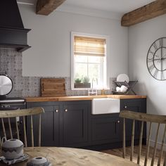A paint specially formulated to resist grease marks and stains, ideal for the kitchen environment. Kitchen Room Design, Kitchen Paint, Home Decor Kitchen, Kitchen Interior, Interior Design Living Room, Kitchen Dining, Cottage Kitchens, Home Kitchens, Open Plan Kitchen Diner
