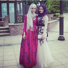 I LOVE these two looks, MashAllah!! Their hijab style is beautiful!