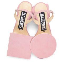 Jacquemus - Pink Suede 'Les Rond Carré' Sandals