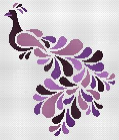 Abstract Peacock in Purple Cross Stitch Kit Small Cross Stitch, Cross Stitch Letters, Cross Stitch Rose, Cross Stitch Animals, Modern Cross Stitch, Cross Stitch Flowers, Wedding Cross Stitch Patterns, Free Cross Stitch Charts, Disney Cross Stitch Patterns