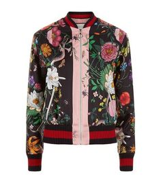 f983f759fb9 Gucci Floral Snake Bomber Jacket available to buy at Harrods. Shop designer  fashion online and