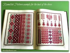 While Palestinian embroidery may have its roots in traditional dresses, it is not limited to that. Take a look at these home furniture and accessories adorned with Palestinian embroidery. Cross Stitch Books, Cross Stitch Borders, Cross Stitch Designs, Cross Stitching, Cross Stitch Patterns, Folk Embroidery, Cross Stitch Embroidery, Embroidery Patterns, Embroidery Tattoo