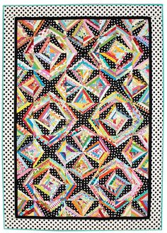 "String Me Along Bed-Size Quilt Pattern Finished Size: 63½"" x 89½"" 