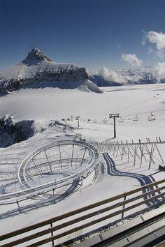Stephen Barber photography           Glacier 3000, 2007        Gstaad, Alpine Coaster Switzerland