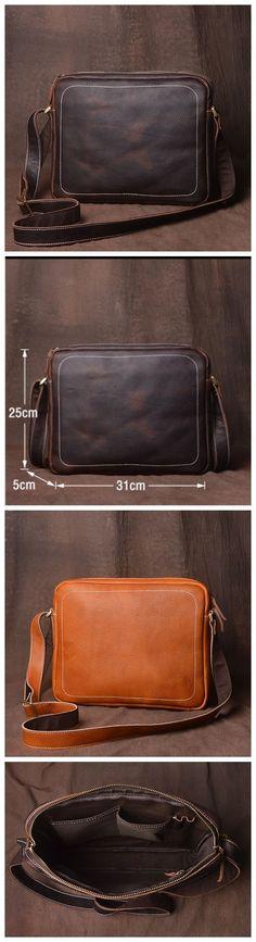 Leather Messenger Bag for Men, Messenger Bags & More JZ015