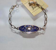 Vintage Cancer Zodiac Bracelet