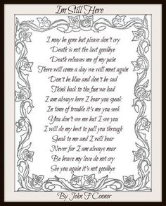 Death is not the last goodbye Miss Mom, Miss You Dad, In Loving Memory Quotes, The Last Goodbye, Grief Poems, Son Poems, Funeral Poems, Sympathy Quotes, Sympathy Messages