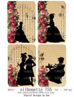 silhouette 75S 3x5 Printable Digital by CountryAtHeart2008