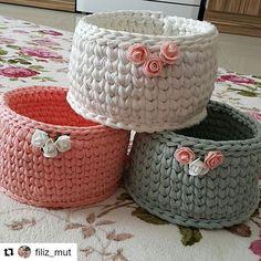 Crochet Case, Crochet Storage, Knit Crochet, Diy Crochet Basket, Crochet Bowl, Knitting Projects, Crochet Projects, Crochet Home Decor, Fabric Yarn