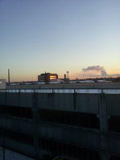 Sunset in valby, copenhagen