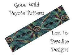 Peyote Bracelet Pattern  Gone Wild  Peyote by LostInParadise, $6.50