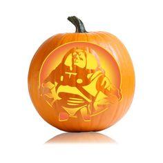 buzz lightyear halloween pumpkin template yellow is fully cut out
