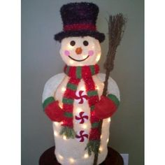 36 Inch Frosty The Snowman - Lighted - Indoor / Outdoor