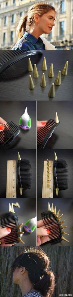 DIY: Peineta de Spikes