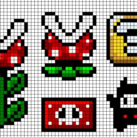 A collection of Super Mario cross stitch patterns. All free ($0).