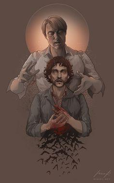 Hannibal and Will (Halloween) by nirnalie.deviantart.com on @DeviantArt