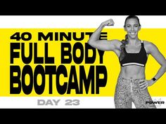 40 Minute Full Body Bootcamp Workout | POWER Program - Day 23 - YouTube Bridge Workout, Boot Camp Workout, Insanity Workout, Cardio, Kettlebell Hiit, Arm Workouts At Home, Exercise For Kids, Workout Videos, Lose Weight