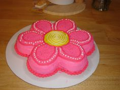 Flower Power Birthday Cake For My 5 Year Old Daughter. on Cake Central