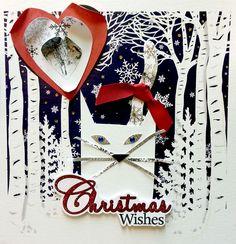 White Cat Christmas - artwork by Rita Dabrowicz
