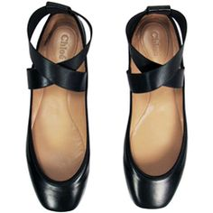 Chloe Criss-Cross Ballerina Flats