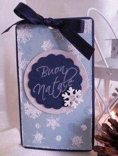 Tag natalizia buon natale che si illumina al buio con fiocchi di neve : Biglietti di chiara-scrapchic