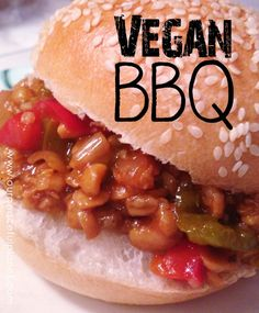 These BBQ sandwiches are quick, inexpensive, delicious and healthy! Vegetarian Side Dishes, Veg Dishes, Vegetarian Recipes Easy, Veggie Recipes, Healthy Recipes, Yummy Recipes, Recipies, Bbq Sandwich, Sandwiches