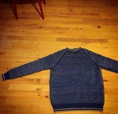 Mit største projekt sidder nu langt om længe rigtigt! Sweater fra Sandnes til Rasmus