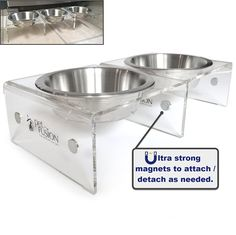 PetFusion Elevated SinglePod Magnetic Pet Feeder [Attachable / Detachable]. 4 inches tall. US FOOD GRADE Stainless steel bowls >>> Unbelievable cat item right here! : Cat items