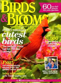 Birds & Blooms Cover for 4/1/2014