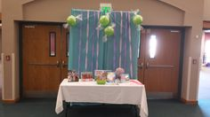 guestbook favor table at the Candy Land First Birthday Party