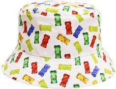 d5741368c48 Amazon.com  City Hunter Bd1950 Gummy Bear Bucket Hats - White  Clothing