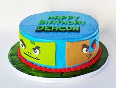 Teen Titan birthday cake #cyborg #beastboy #teentitan