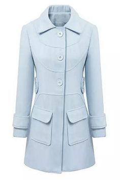 LIGHT BLUE TRENCH  PICS  | Home > Clothing > Outwear > Graceful Light Blue Trench Coat